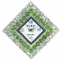 Large Diamond Crysta/ Peridot Austrian Crystal Watch Face