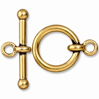 Antiqued Gold 3/4 Inch Anna's Toggle Clasp