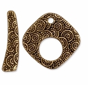 Antique Gold Large Spiral Clasp Set
