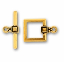 Antique Gold Deco Square Clasp Set