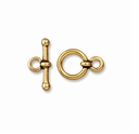 Antiqued Gold 3/8 Inch Anna's Toggle Clasp