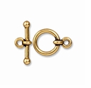 Antiqued Gold 1/2 Inch Anna's Toggle Clasp