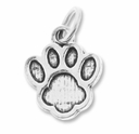 Silver Plated Paw Print Charm (3PK)