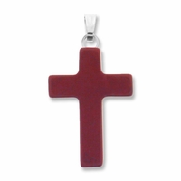 Red Jasper 25mm Cross Gemstone Pendant