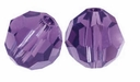 Majestic Crystal® Violet 8mm Faceted Round Crystal Beads (24PK)