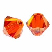 Red Magma 5328 6mm Swarovski Crystal XILION Bicone Beads (10PK)