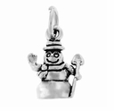 Snowman Sterling Silver Charm