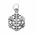 Snowflake Sterling Silver Charm