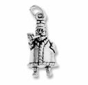 Sterling Silver Santa w/ Pipe Sterling Silver Charm