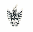 Angel - Faith Sterling Silver Charm