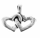 Double Hearts Sterling Silver Charm