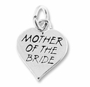 Mother of Bride in Heart Charm