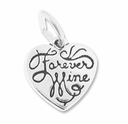 Sterling Silver Forever Mine Charm
