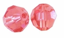 Padparadscha 8mm Swarovski 5000 Round Crystal Beads (1PC)