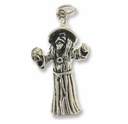 Wizard Sterling Silver Charm / Sterling Silver Pendant