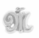 Letter M Sterling Silver Charm