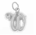 Letter W Sterling Silver Charm