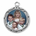 Round Picture Frame Sterling Silver Charm