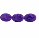 Purple Crazy Lace 35x25mm Oval Bead (1PC)