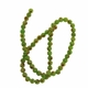 Green Glass Millefiori 6mm Round Beads 16-Inch Strand