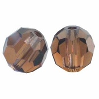 Smoked Topaz 8mm Swarovski 5000 Round Crystal Beads (1PC)