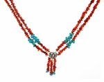 Turquoise on Fire Necklace