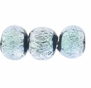 6mm Silver Black Dichroic Round Glass Bead (1PC)