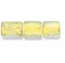 7mm Gold Clear Dichroic Tube Glass Bead (1PC)