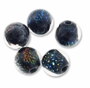 Dichroic Mixed 10mm Round Glass Beads (5PK)