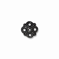 Black Finish Clover Bead Cap
