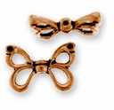 Antique Copper Butterfly Wings Bead