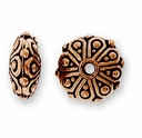 Antique Copper Oasis Rondelle Bead