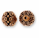 Antique Copper Casbah Round Bead