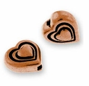 Antique Copper Heart Bead