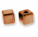 Antique Copper Cube Bead
