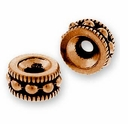 Antique Copper 6mm Rococo Round Bead