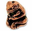 Antique Copper Frog w/ Flute Bead