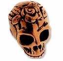 Antique Copper Skull Bead