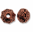 Antique Copper 10mm Oasis LH Bead