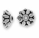 Antique Silver 9mm Dharma Bead Cap