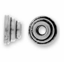 Antique Silver 4mm Stepped Bead Cap