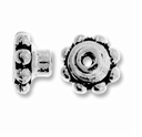 Antique Silver 5mm Aligner Bead Cap