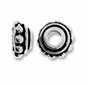 Antique Silver 8mm Lg. Hole Bead Cap