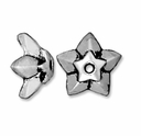 Antique Silver 8mm Star Bead Cap