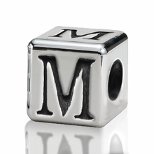 4.5mm Small Hole Alphabet Letter Bead Letter M