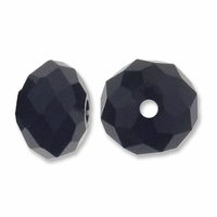 Majestic Crystal® Jet 4x6mm 32-Facet Crystal  Beads (25PK)
