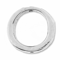 Antiqued  Silver 16mm Modern Round Bead Frame (10PK)
