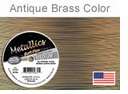 Soft Flex Wire: Antique Brass .019 Diameter 49 Strd 10FT