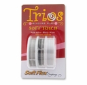TRIOS .010 DIA. 10 FT. EACH SOFT TOUCH SATIN SILVER, BLACK, WHITE