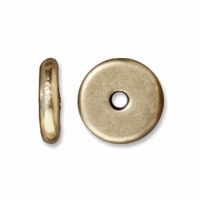 7mm Brass Oxide Disk Heishi Spacers (10PK)